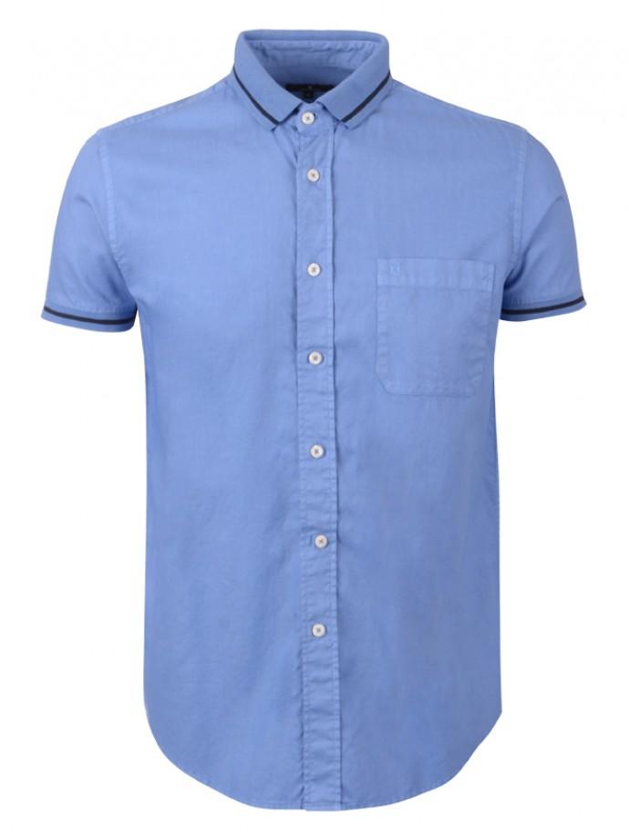 Camisa slim fit manga curta