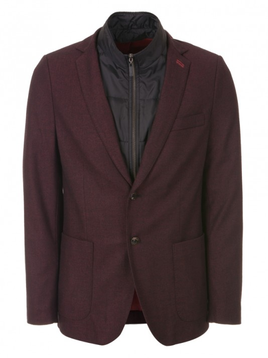 Blazer with removable built-in waistcoat