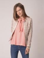 Bow tied sleeveless blouse