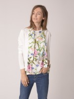 Cardigan with flowers details