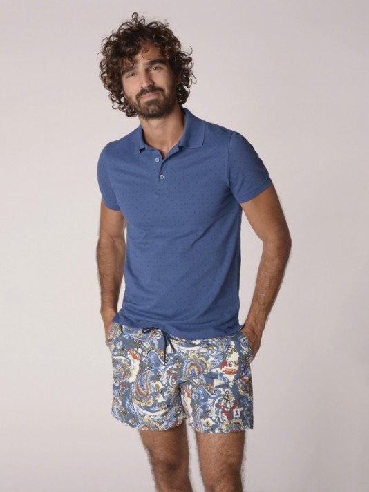 Patterned swimshorts