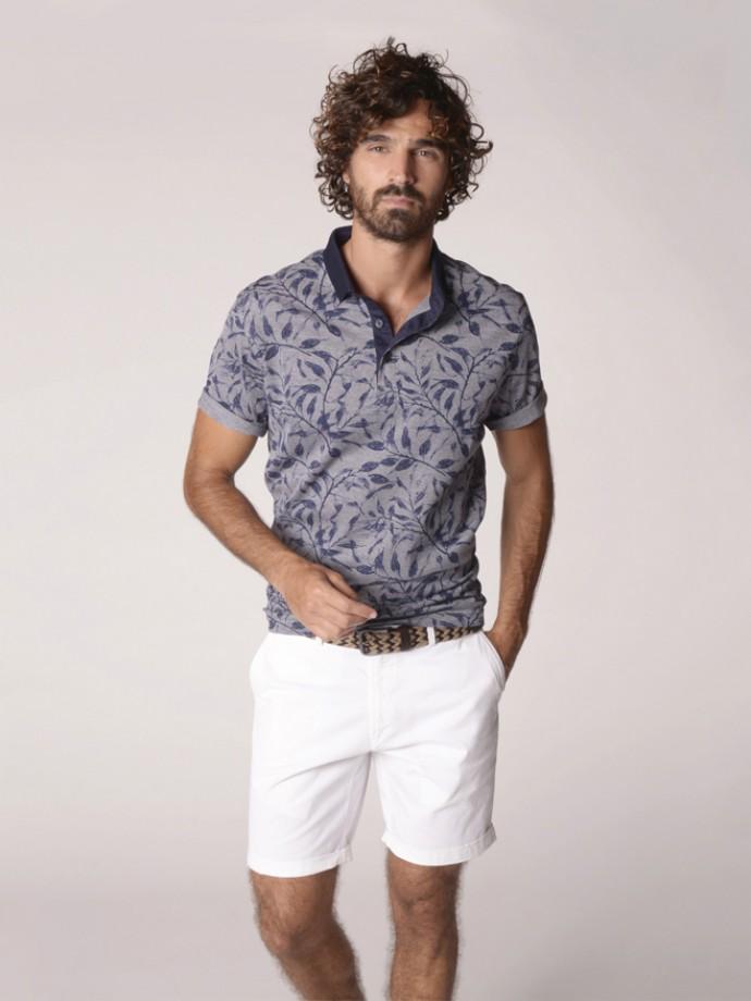 Printed polo shirt