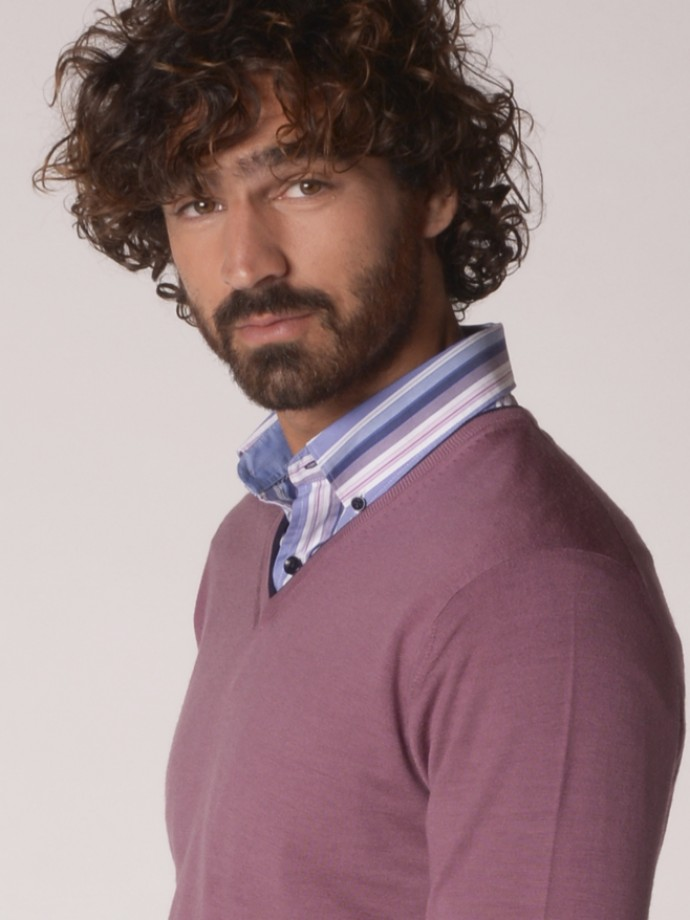 Camisa slim fit rayas
