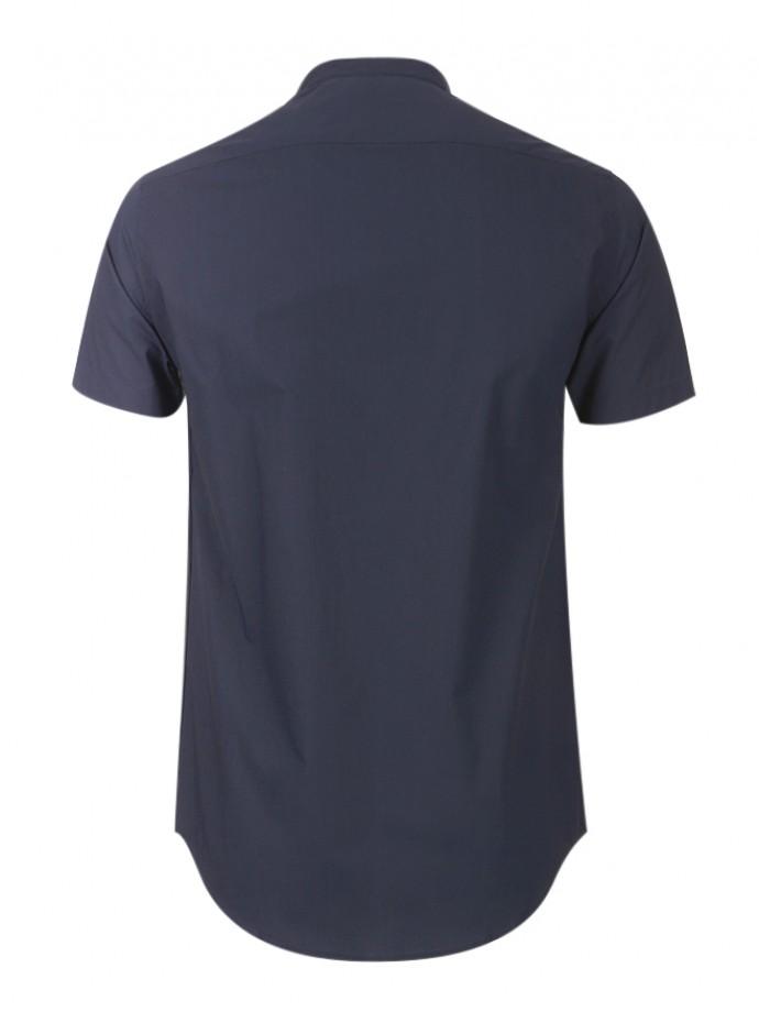 Camisa slim fit manga corta