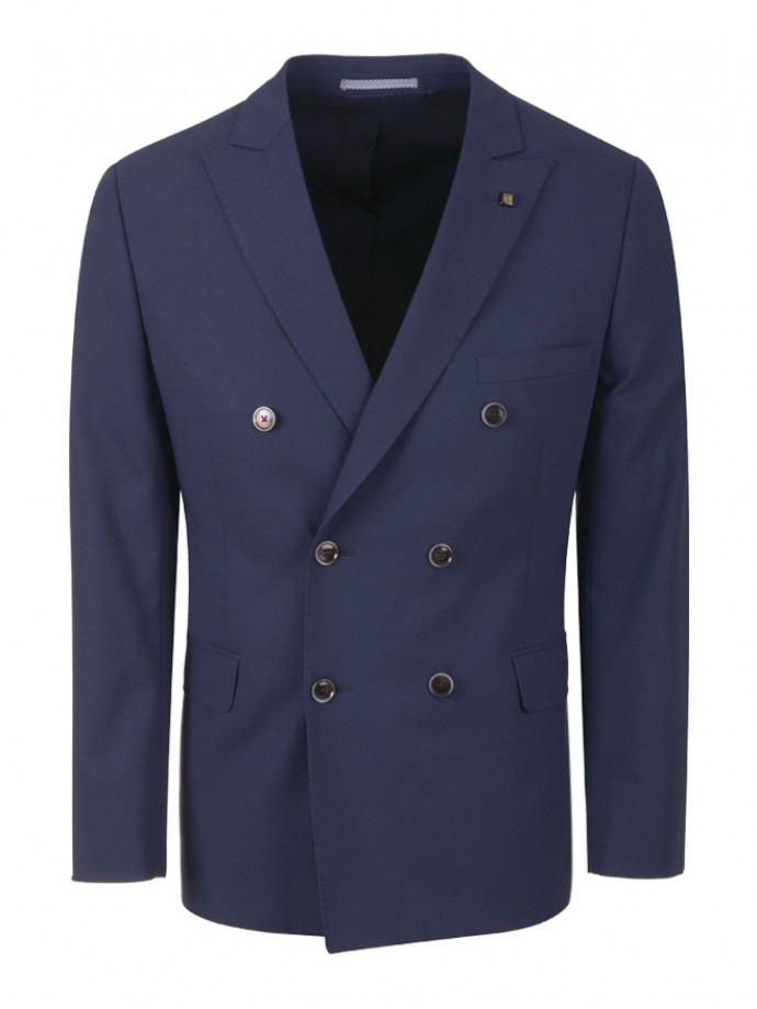 Double breasted regular fit blazer