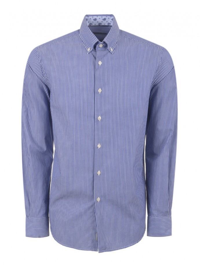 Camisa riscas regular fit