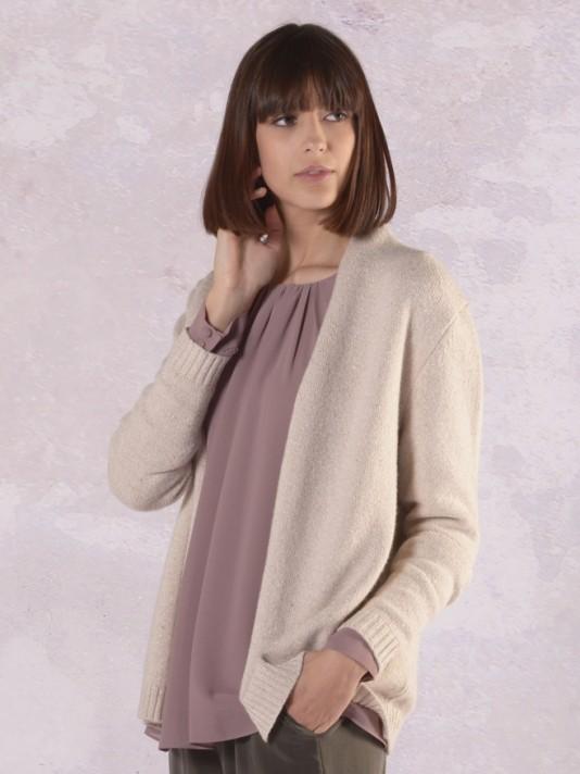 Open front knit jacket