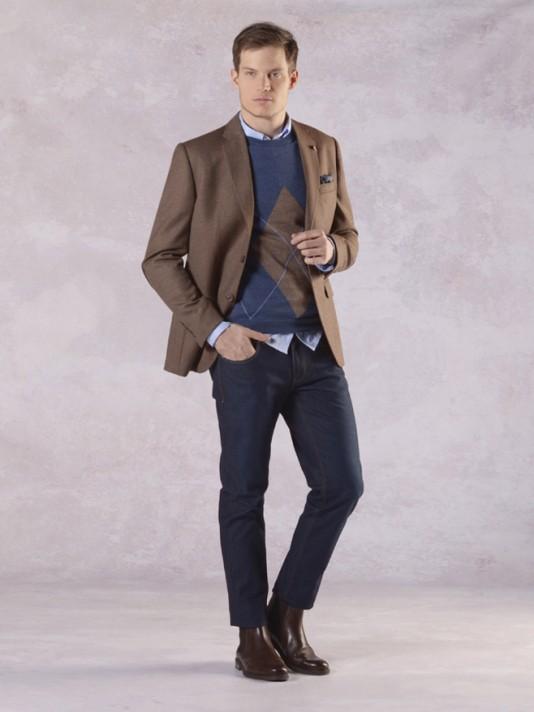 Regular fit denim trousers