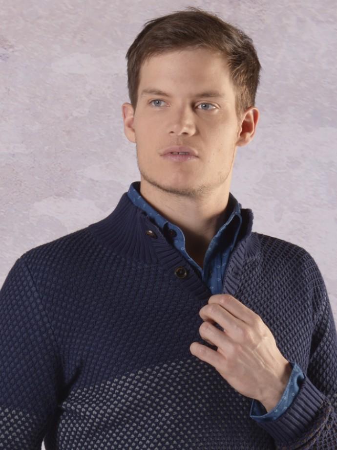 Camisa slim fit micromotivos