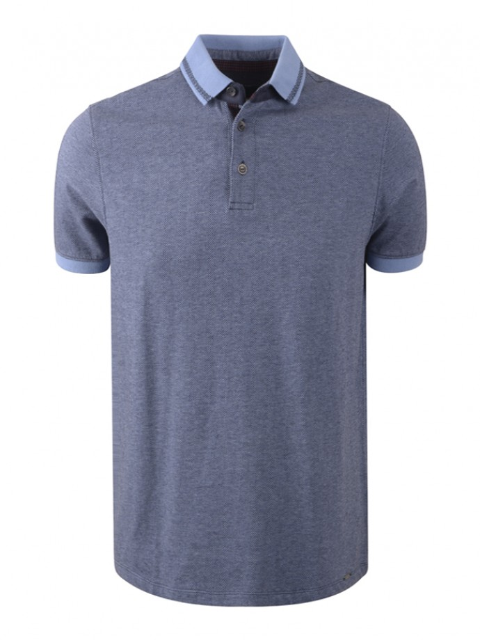 Patterned polo shirt
