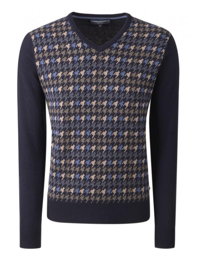 Pullover manga comprida com padrão