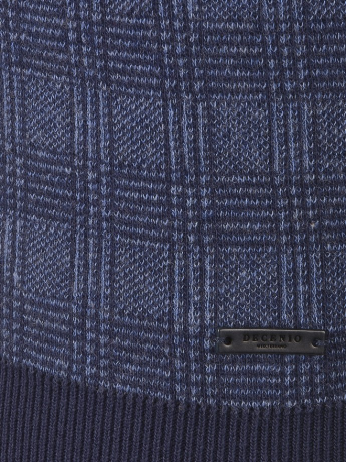 Checked v-neck sweater