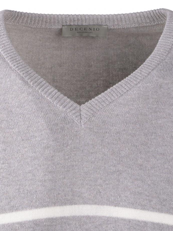Jersey cuello pico rayas