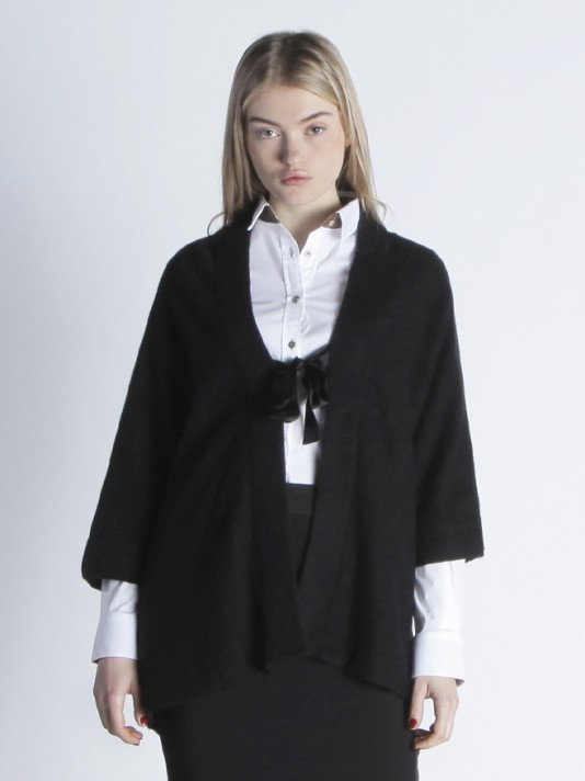 3/4 sleeve jacket with a bow