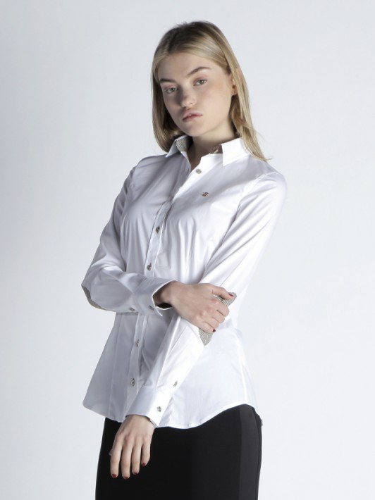 Slim fit shirt with elbow pads