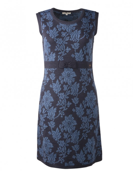 Sleeveless and printed flowers dress