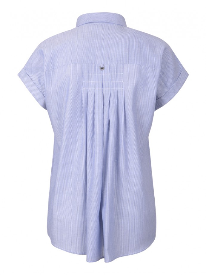 Short sleeve tunic with buttons