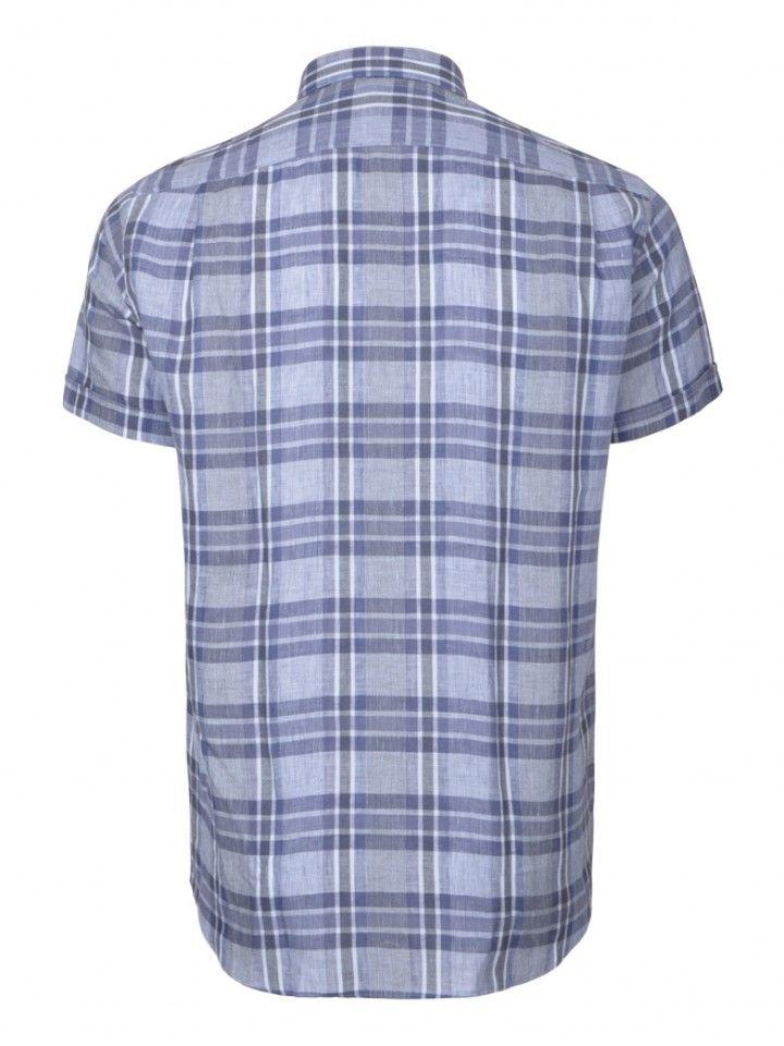 Camisa regular fit xadrez manga curta
