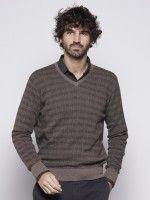Pullover manga comprida xadrez