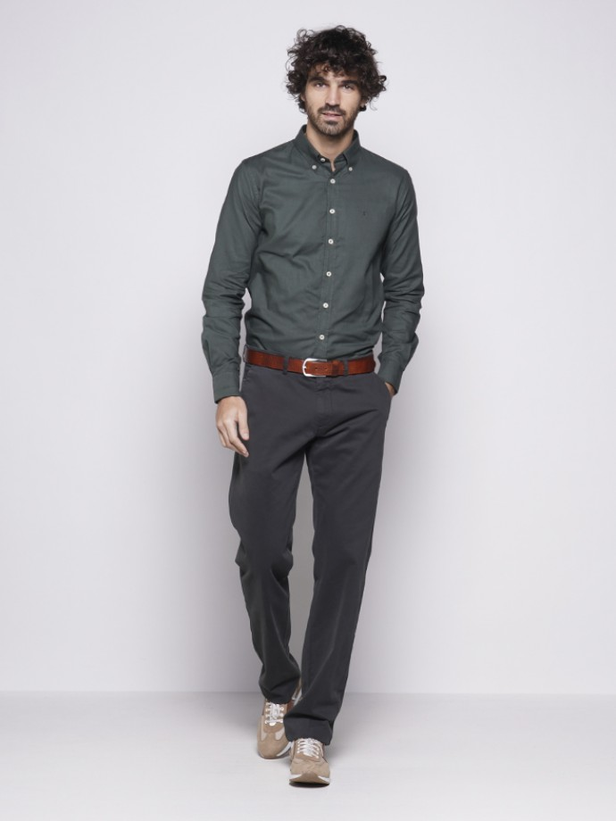 Regular fit chino trousers