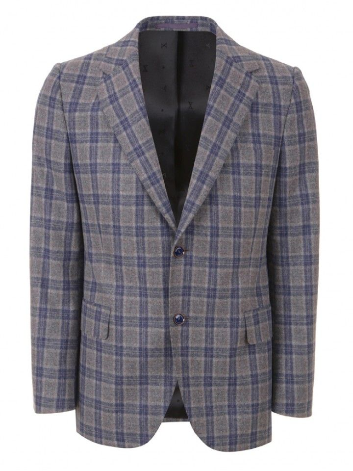 Blazer slim fit xadrez