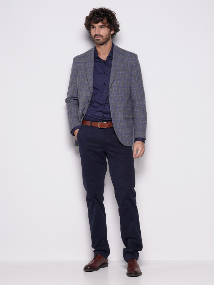 Blazer slim fit cuadros