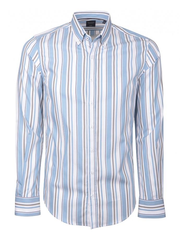 Camisa slim fit rayas
