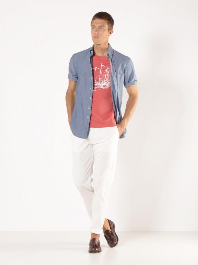 Denim slim fit shirt