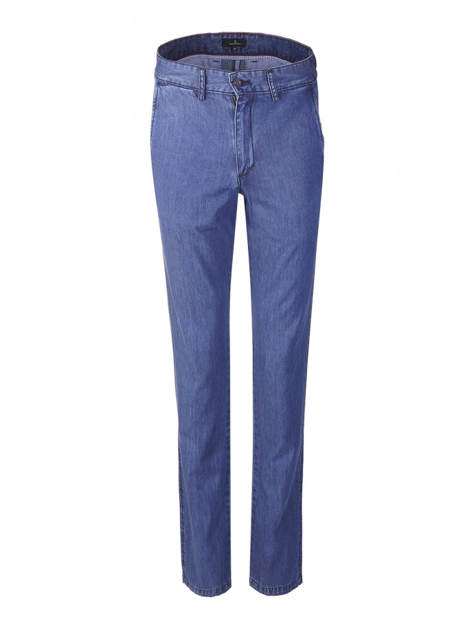 Pantalón chino denim regular fit