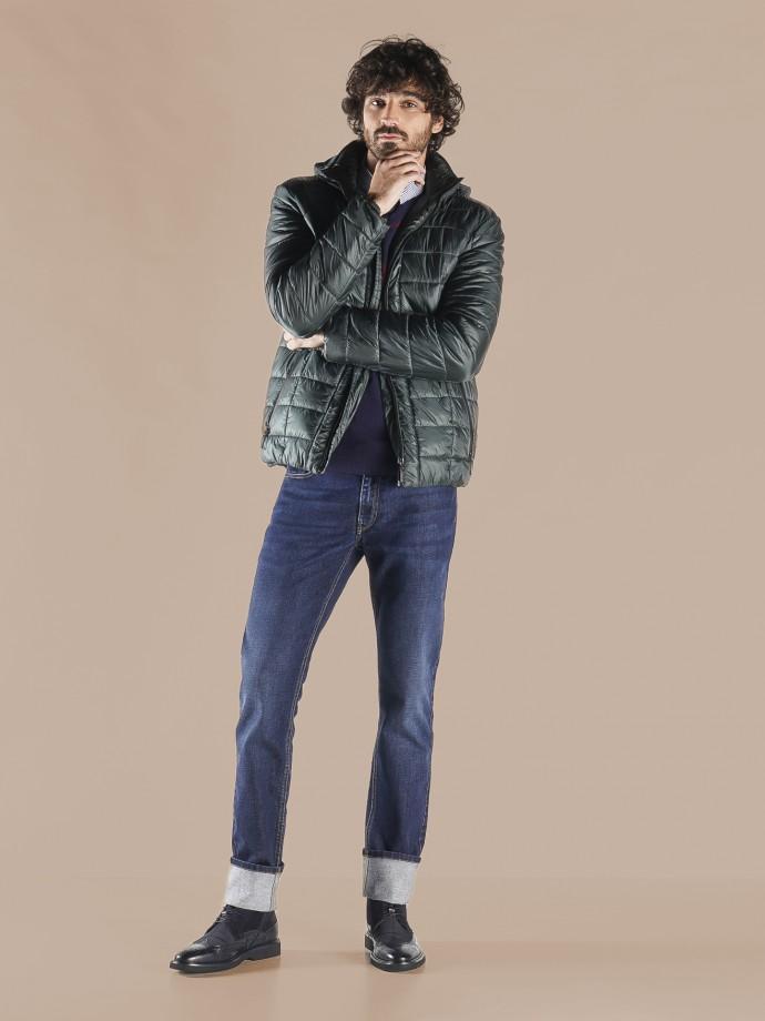 Slim fit denim trousers