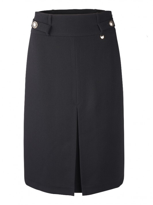 Skirt with plate