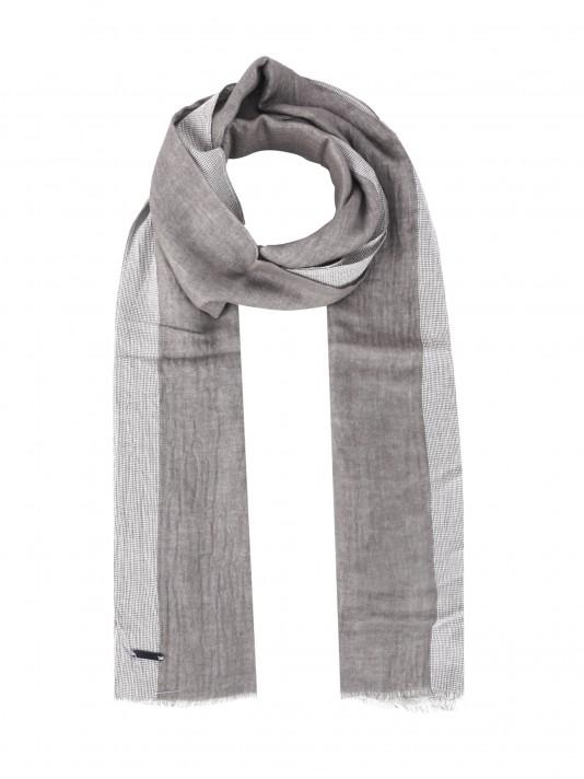 Echarpe bicolor 100% algodão