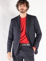 Traje slim fit cuadros