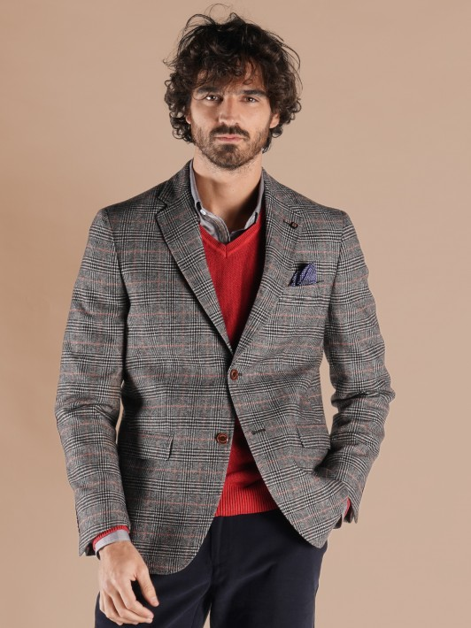 Blazer regular fit xadrez