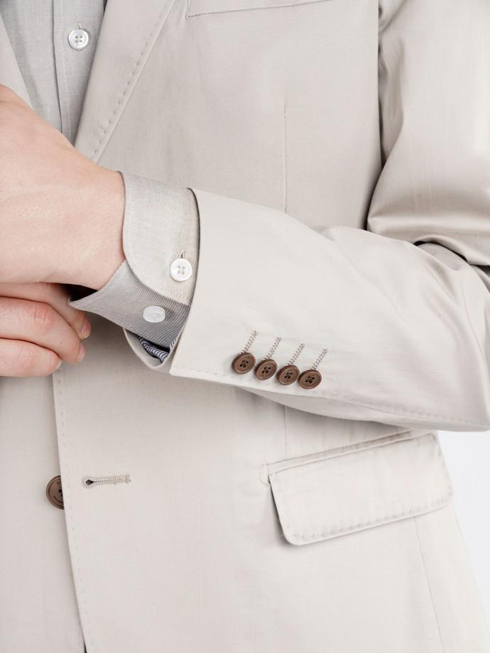 Blazer de algodão stretch slim fit