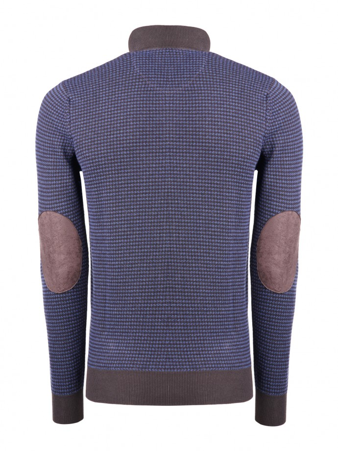 Mock neck sweater with elbow pads