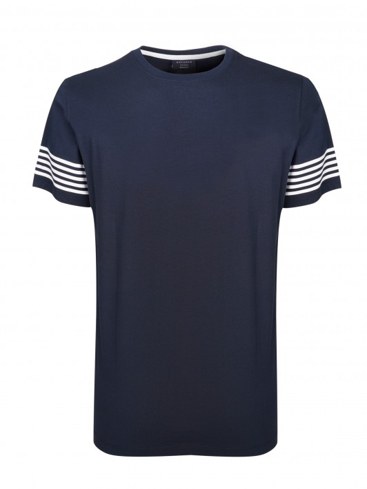 T-Shirt with striped detail