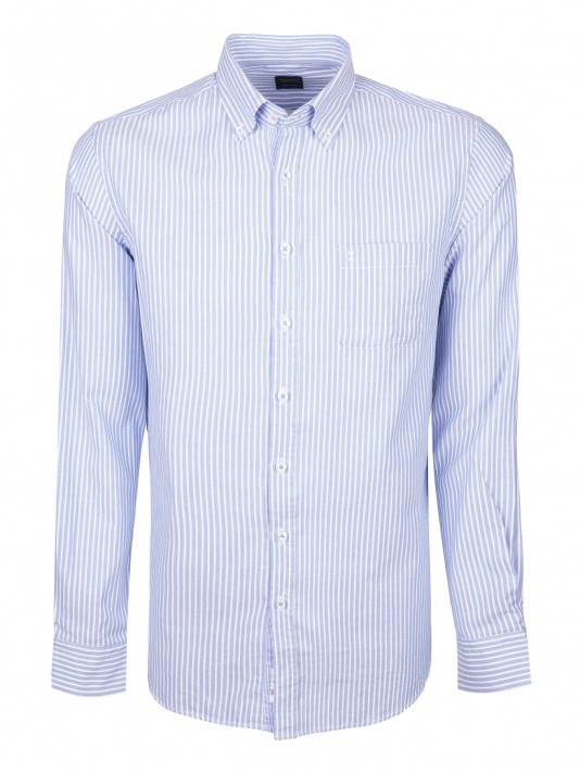 Camisa regular fit rayas