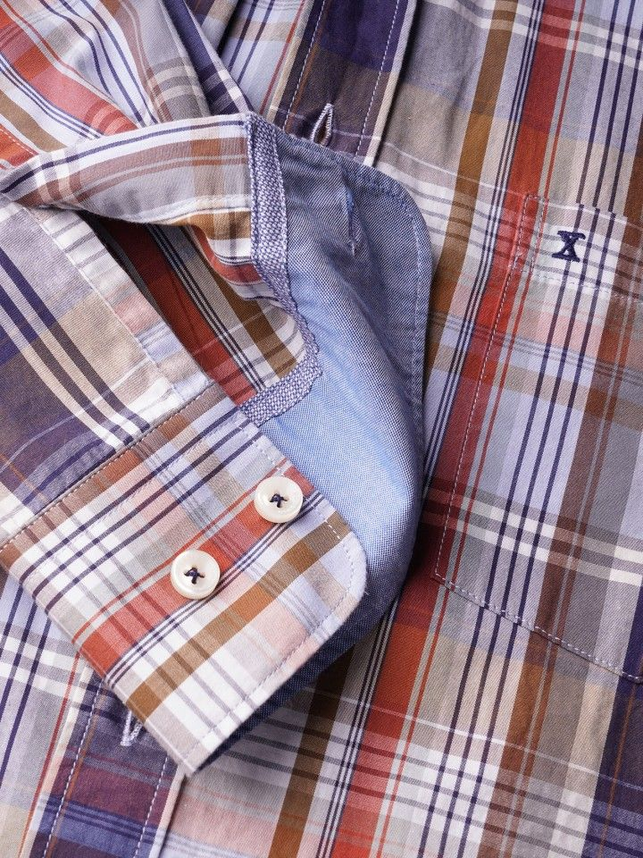Camisa regular fit xadrez