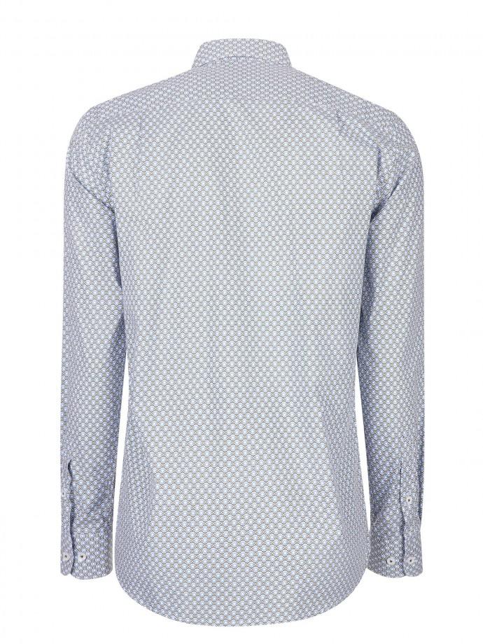 Camisa regular fit micromotivos