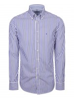 Camisa slim fit riscas