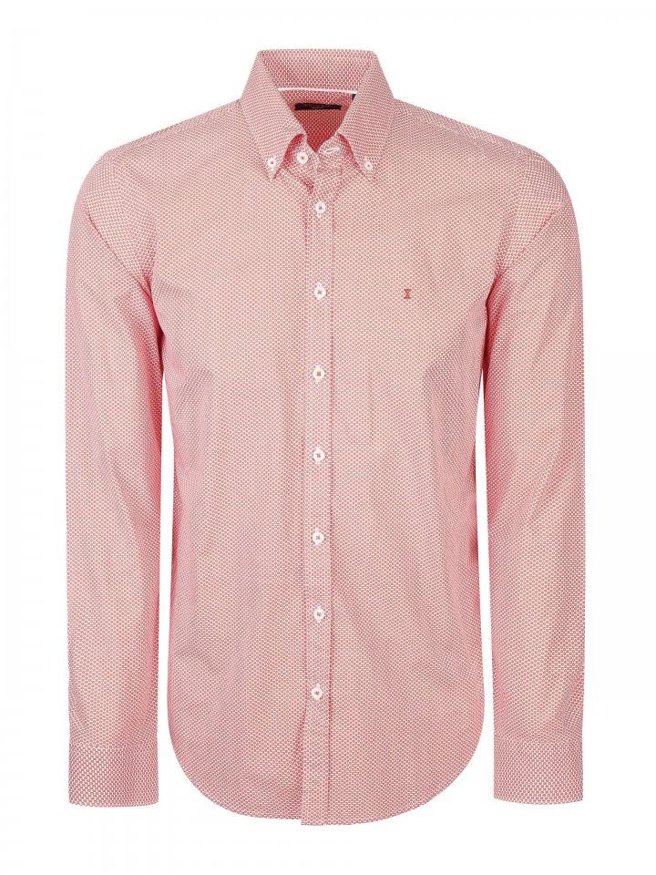 Camisa slim fit com padrão