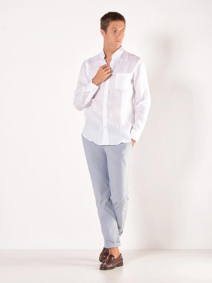 Calça chino slim fit