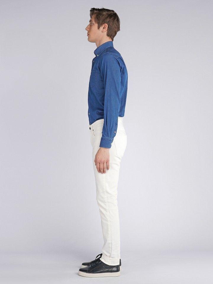 5 pocket slim fit trousers