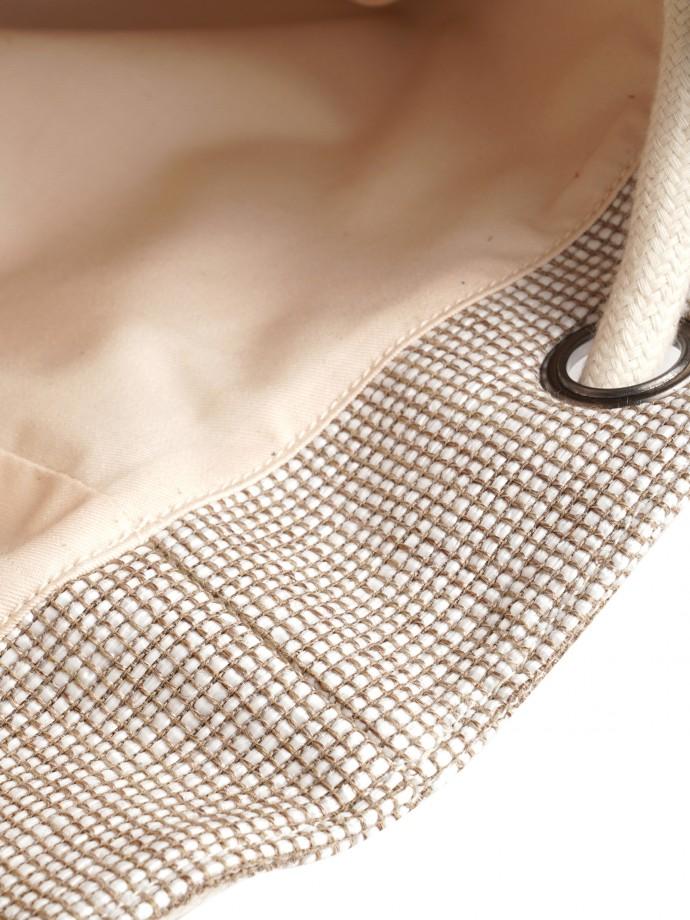 Mochila com detalhe de pele