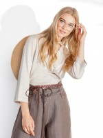 Frilled knit jacket