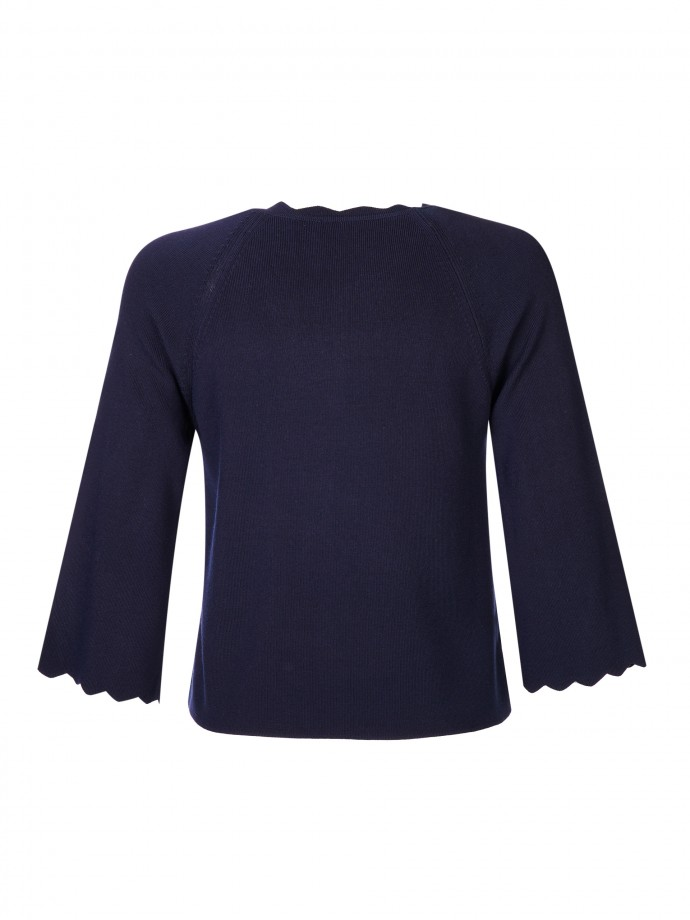 3/4 sleeve knit jacket