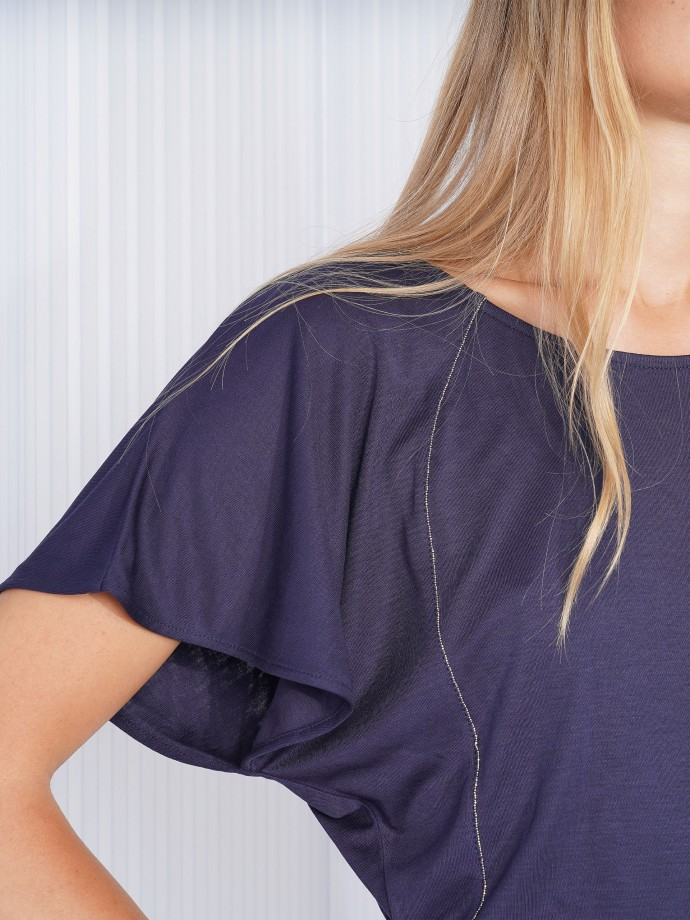 Short sleeved jumpsuit