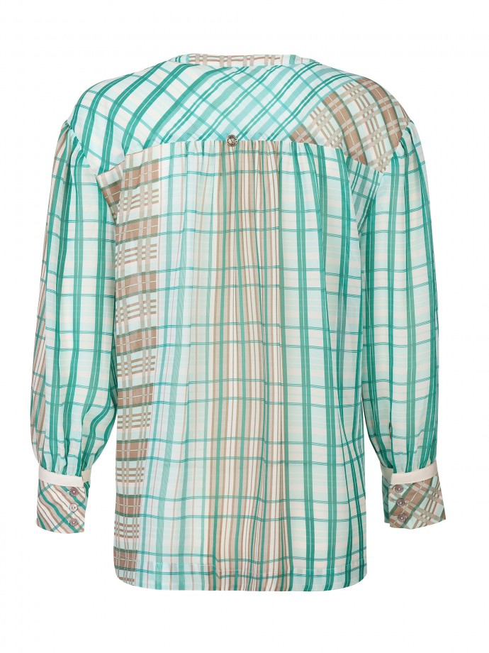 Checked tunic
