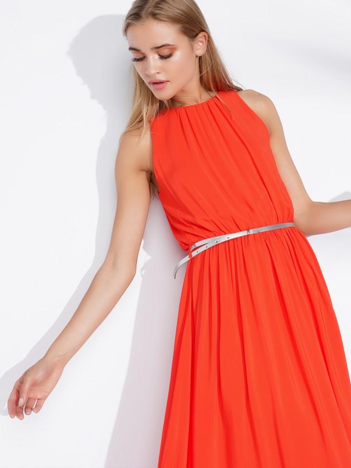 Long dress with belt